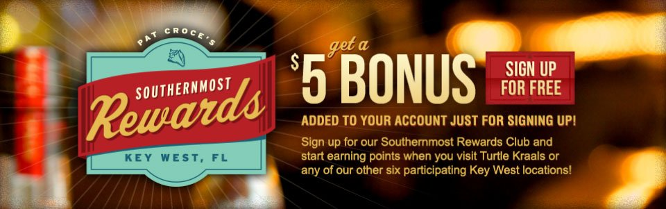 Image of Southernmost Rewards Sign Up